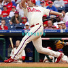 27 July 2008: Philadelphia Phillies' Pat Burrell (5) hits his 26th home run off of Braves pitcher Julian Tavarez. Philadelphia went on to win defeating the Brave 12-10 in Citizens Bank Stadium in Philadelphia, PA