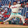 27 July 2008: Philadelphia Phillies' relief pitcher Rudy Seanez (57) came in late in the game and was hit hard by the Atlanta Braves hitter. Philadelphia went on to win defeating the Brave 12-10 in Citizens Bank Stadium in Philadelphia, PA