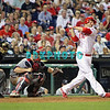 September 7, 2011 Philadelphia Phillie's outfielder Ross Gload, #7 hit a pinch hit single to right to end the game against the Atlanta Braves at Citizens Bank Park in Philadelphia, PA. The Phillie's defeated the Braves 3-2.
