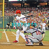 September 7, 2011 Philadelphia Phillie's,#26 2nd Baseman, Chase Utley, watches a pitch go by during the game against the Atlanta Braves at Citizens Bank Park in Philadelphia, PA. The Phillie's defeated the Braves 3-2.