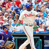 July 22, 2009: Phillies 1st baseman Ryan Howard (6) hits a long fly ball to right field during the game between the Chicago Cubs and the Philadelphia Phillies at Citzens Bank Park in Philadelphia, PA. The Cubs ended the Phillies 10 game winning streak by defeating them 10-5. Donald B. Kravitz/CSM
