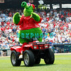 July 22, 2009: The Phillies Phanatic entertains the fans during a break in the game between the Chicago Cubs and the Philadelphia Phillies at Citzens Bank Park in Philadelphia, PA. The Cubs ended the Phillies 10 game winning streak by defeating them 10-5. Donald B. Kravitz/CSM