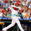 25 August 2008: Philadelphia Phillies' 1st baseman, Ryan Howard (6) swings and misses during the game against the Los Angeles Dodgers. The Phillies defeated the Dodgers 5-0 in Citizens Bank Stadium in Philadelphia, PA
