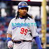 25 August 2008:  Los Angeles Dodgers' Leftfielder Manny Ramirez (99) walks back to the dugout in the game against the Philadelphia Phillies. The Phillies defeated the Dodgers 5-0 in Citizens Bank Stadium in Philadelphia, PA