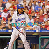 25 August 2008: Los Angeles Dodgers' Leftfielder, Manny Ramirez (99) awaits the pitch in the game against the Philadelphia Phillies. The Phillies defeated the Dodgers 5-0 in Citizens Bank Stadium in Philadelphia, PA
