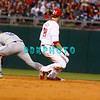 25 August 2008: Philadelphia Phillies' Rightfielder, Jason Werth (28) slides into 2nd base after hitting a doublein the game against the Los Angeles Dodgers. The Phillies defeated the Dodgers 5-0 in Citizens Bank Stadium in Philadelphia, PA