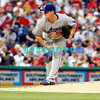 25 August 2008:  Los Angeles Dodgers' pitcher Chad Billingsley (58) delivers a pitch to home plate against the Philadelphia Phillies. The Phillies defeated the Dodgers 5-0 in Citizens Bank Stadium in Philadelphia, PA