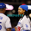 25 August 2008: Los Angeles Dodgers' coach Mariano Duncan (35) talks to leftfielder Manny Ramires (99) after he was thrown out at 1st base during the game against the Philadelphia Phillies. The Phillies defeated the Dodgers 5-0 in Citizens Bank Stadium in Philadelphia, PA