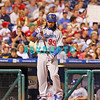 25 August 2008: Los Angeles Dodgers' Leftfielder, Manny Ramirez (99) checks his bat as he steps to the plate in the game against the Philadelphia Phillies. The Phillies defeated the Dodgers 5-0 in Citizens Bank Stadium in Philadelphia, PA