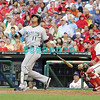 September 15,2011 - Philadelphia, Pennsylvania, U.S. - Florida Marlins  infielder, JOSE LOPZ #11,  in action during the game between the Phillie's and the Marlins at Citizens Bank Park, Philadelphia, PA. The Phillie's defeated the Marlins 3-1.
