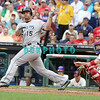 September 15,2011 - Philadelphia, Pennsylvania, U.S. - Florida Marlins 1st baseman, GABY SANCHEZ #15  in action during the game between the Phillie's and the Marlins at Citizens Bank Park, Philadelphia, PA. The Phillie's defeated the Marlins 3-1.