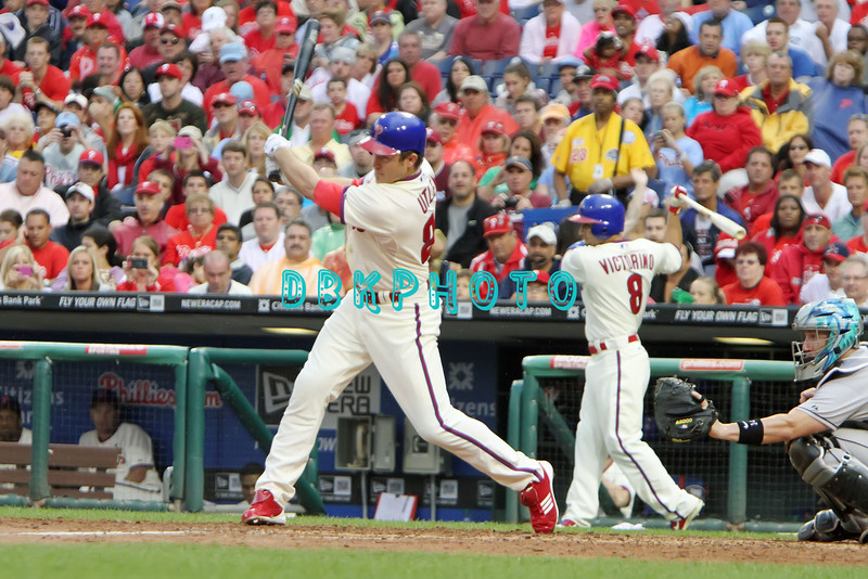 September 15,2011 - Philadelphia, Pennsylvania, U.S. - Philadelphia Phillie's CHASE UTLEY, #26, 2nd baseman of the Phillie's,  in action during the game between the Phillie's and the Marlins at Citizens Bank Park, Philadelphia, PA. The Phillie's defeated the Marlins 3-1.