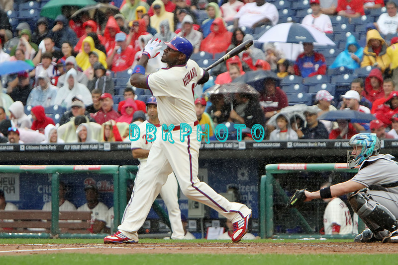 September 15,2011 - Philadelphia, Pennsylvania, U.S. - Philadelphia Phillie's RYAN HOWARD, #6 1st baseman of the Phillie's, in action during the game between the Phillie's and the Marlins at Citizens Bank Park, Philadelphia, PA. The Phillie's defeated the Marlins 3-1.