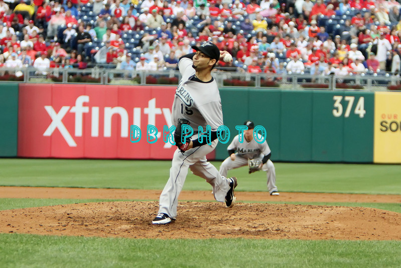 September 15,2011 - Philadelphia, Pennsylvania, U.S. - Florida Marlins pitcher ANIBAL SANCHEZ #19 delivers a pitch during the game between the Phillie's and the Marlins at Citizens Bank Park, Philadelphia, PA. The Phillie's defeated the Marlins 3-1.