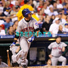 27 August 2008: New York Mets right fielder, Ryan Church (19) watched a long fly ball in the game against the Philadelphia Phillies'. The Mets. The Mets went on to win defeating the Phillies' 6-3 in Citizens Bank Stadium in Philadelphia, PA
