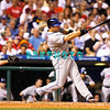 27 August 2008: New York Mets 3rd baseman Davis Wright (5) hits a long fly ball in the game against the Philadelphia Phillies'. The Mets. The Mets went on to win defeating the Phillies' 6-3 in Citizens Bank Stadium in Philadelphia, PA