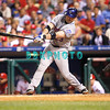 27 August 2008: New York Mets catcher Brian Schneider (23) swings at a pitch in the game against the Philadelphia Phillies'. The Mets. The Mets went on to win defeating the Phillies' 6-3 in Citizens Bank Stadium in Philadelphia, PA