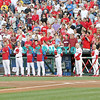 August 23, 2011 The Philadelphia Phillies' asked for a moment of silence to acknowledge the tragic loss of four high school football players in an automobile accident prior to the game against the Philadelphia Phillies' at Citizens Bank Park in Philadelphia, PA. The Philadelphia Phillie's beat the New York Mets  9-4.