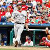 May 23, 2010  Boston Red Sox 1st baseman Kevin Youkilis #20 lines a foul ball
