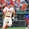 May 23, 2010  Philadelphia  Phillies'  2nd baseman Chase Utley #26 rounds 2nd base on his way to 3rd base after hitting a triple
