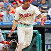 May 23, 2010  Philadelphia  Phillies'  out fielder Raul Ibanez #29 t