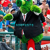 June 30, 2011  Philadelphia Phillie's mascot The Phanatic dresses up in a business suit during the game against the Philadelphia Phillies' at Citizens Bank Park in Philadelphia, PA. The Red Sox beat the Phillies' 5-2.