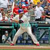 June 30, 2011  Philadelphia Phillie's #27 3rd baseman, Placido Polanco, eyes the ball during the game against the Philadelphia Phillies' at Citizens Bank Park in Philadelphia, PA. The Red Sox beat the Phillies' 5-2.
