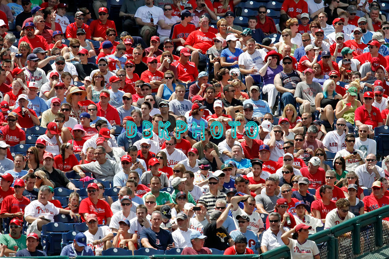 June 30, 2011 Philadelphia Phillie's fans fill the stadium during the game against the Philadelphia Phillies' at Citizens Bank Park in Philadelphia, PA. The Red Sox beat the Phillies' 5-2.