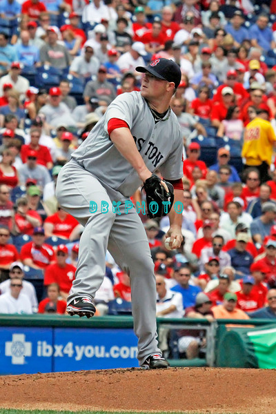 June 30, 2011  Boston Red Sox pitcher, #31 John Lester fires a pitch to home plate during the game against the Philadelphia Phillies' at Citizens Bank Park in Philadelphia, PA. The Red Sox beat the Phillies' 5-2.