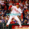 23 September 2008: Philadelphia Phillies' starting pitcher Cole Hamels (35) winds up for his pitch to home in the game against the Atlanta Braves. Atlanta went on to win defeating the Phillie's 3-2 in Citizens Bank Stadium in Philadelphia, PA