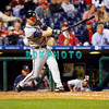 23 September 2008: Atlanta Braves infielder Greg Norton (2) goes for the long ball in the game against the Philadelphia Phillie's. Atlanta went on to win defeating the Phillie's 3-2 in Citizens Bank Stadium in Philadelphia, PA