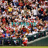 """23 September 2008: Philadelphia Phillies' fans wave their """"Phillie's"""" Rally Towels"""" the game against the Atlanta Braves. Atlanta went on to win defeating the Phillie's 3-2 in Citizens Bank Stadium in Philadelphia, PA"""