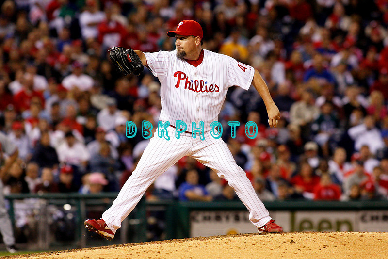 23 September 2008: Philadelphia Phillies' pitcher Scott Eyre (47) comes in relief for starting pitcher Cole Hamels in the game against the Atlanta Braves. Atlanta went on to win defeating the Phillie's 3-2 in Citizens Bank Stadium in Philadelphia, PA
