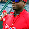 30 September 2008: The Phillies Ryan Howard walks toward the media in the early afternoon. The Philadelphia Phillie's and Milwaukee Brewers took the day before the first play off game to hold press conferences and a light field workout at Citizens Bank Stadium in Philadelphia,  PA