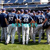 """30 September 2008: The Milwaukee Brewers gather together for a short 'Team Meeting"""" on the field before working out. The Philadelphia Phillie's and Milwaukee Brewers took the day before the first play off game to hold press conferences and a light field workout at Citizens Bank Stadium in Philadelphia,  PA"""