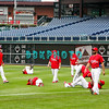 30 September 2008: The Phillie's loosen up early in the afternoon with some exercises in the outfield. The Philadelphia Phillie's and Milwaukee Brewers took the day before the first play off game to hold press conferences and a light field workout at Citizens Bank Stadium in Philadelphia,  PA