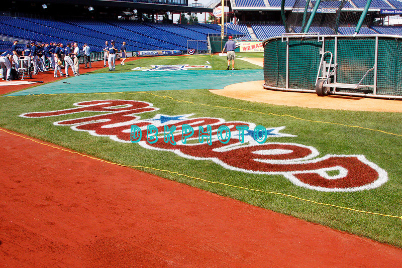 30 September 2008: The Milwaukee Brewers take the field  early in the afternoon. The Philadelphia Phillie's and Milwaukee Brewers took the day before the first play off game to hold press conferences and a light field workout at Citizens Bank Stadium in Philadelphia,  PA