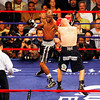 18 October 2008: Kelly Pavlik (black trunks)takes a left to the head from Bernard Hopkins (black trunks, white trim) exchage punches during their 12 round bout in Atlantic City, New Jersey Hopkins won by decision