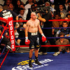 18 October 2008: Kelly Pavlik (black trunks) awaits the start of round 7 in his 12 round bout with Bernard Hopkins in Atlantic City, New Jersey . Hopkins won by decision