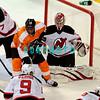 Philadelphia, PA, Wells Fargo Center, November 3, 2011;. The Philadelphia Flyers vs the New Jersey Devils. The New Jersey Devils won by shootout after the overtime period also ended in a tie. The Devils won 4-3