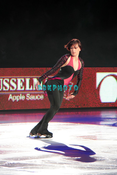 """French Gold Medal Champion, Laetitia Hubert performing in Caesars Tribute II """"A Salute to the Ladies of the Ice skating show and tribute to Peggy Flemming."""