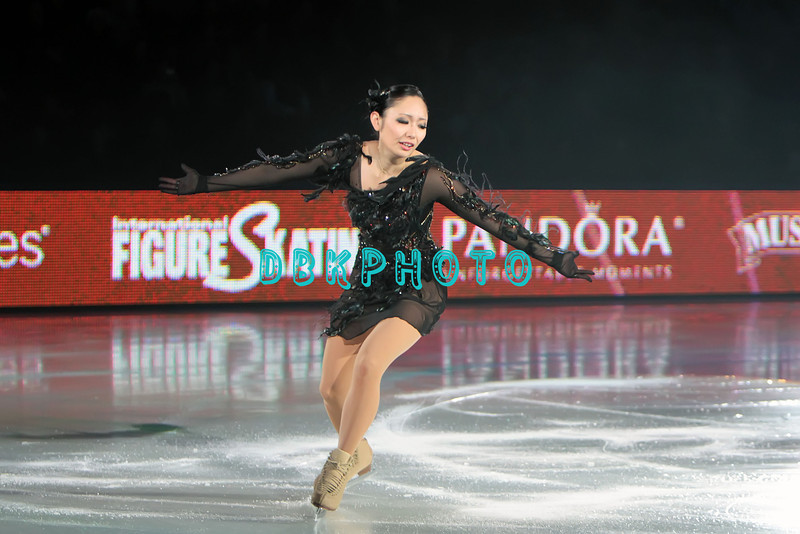 """Japanese World Champion Gold Medalist, Miki Ando performing in Caesars Tribute II """"A Salute to the Ladies of the Ice skating show and tribute to Peggy Flemming."""