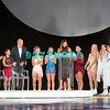 """US Olympic Gold Medalist,Peggy Flemming joins guest moderator Dick Button and skaters on stage during Caesars Tribute II """"A Salute to the Ladies of the Ice skating show and tribute to Peggy Flemming."""