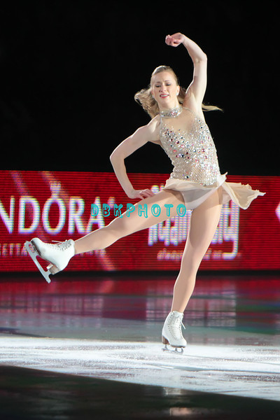 """Canadian Olympic Bronze Medalist Joannie Rochette performing in Caesars Tribute II """"A Salute to the Ladies of the Ice skating show and tribute to Peggy Flemming."""