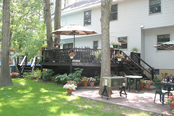 109 Old Forge Rd. Rear Yard Deck and barbque area, Summer 2006 and 2007