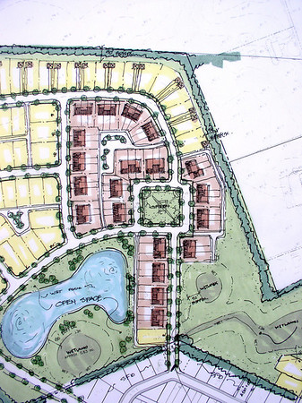 Chesterfield Downs TND Community, Burlington Co, NJ, by Matzel and Mumford Org. Prepared Land Use plan, housing and recreational concept planning.