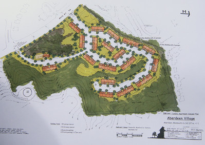 Hidden Village Redevelopment, Aberdeen, NJ 200 Lux.Apt. Flats on old mining site with difficult topo .