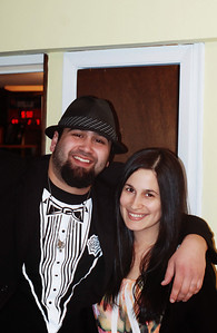 February 7th - 038/365  Me & Matt at his Superbowl party. Tuxedo, optional. As you can see, he takes his football very seriously.