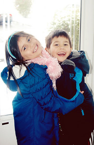 January 1st - 001/365  Sure they fight, but for the most part, Emily & Andrew remain best buddies. They were exceptionally giggly and mischievous during this holiday vacation. What a way to start a brand new year - full of smiles!