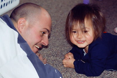 January 31st - 031/365  Daddy & his little shaggamuffin.